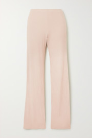 Alison ribbed stretch-jersey pants