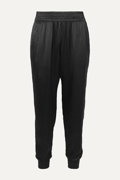 Cami Nyc Pants The Sadie silk-charmeuse tapered track pants