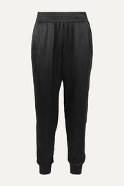 The Sadie silk-charmeuse tapered track pants