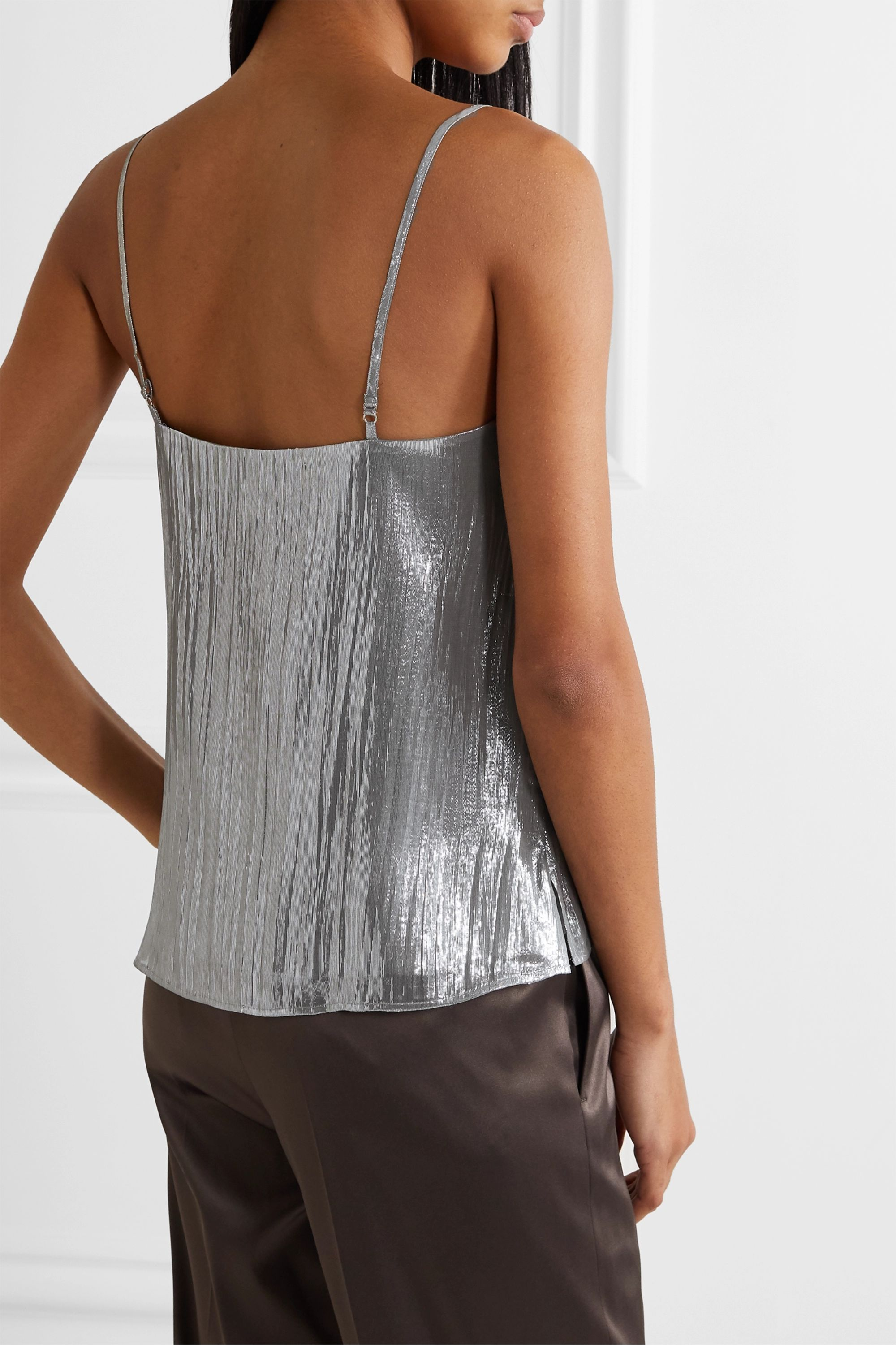 Cami NYC The Olivia silk-blend lamé camisole