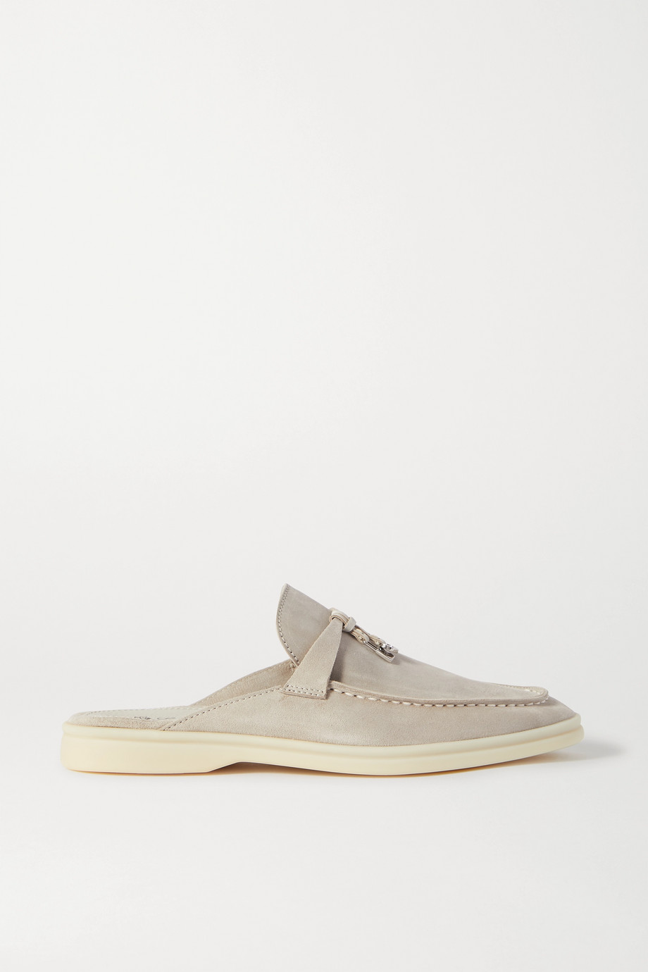 Loro Piana Babouche Charms Walk suede slippers