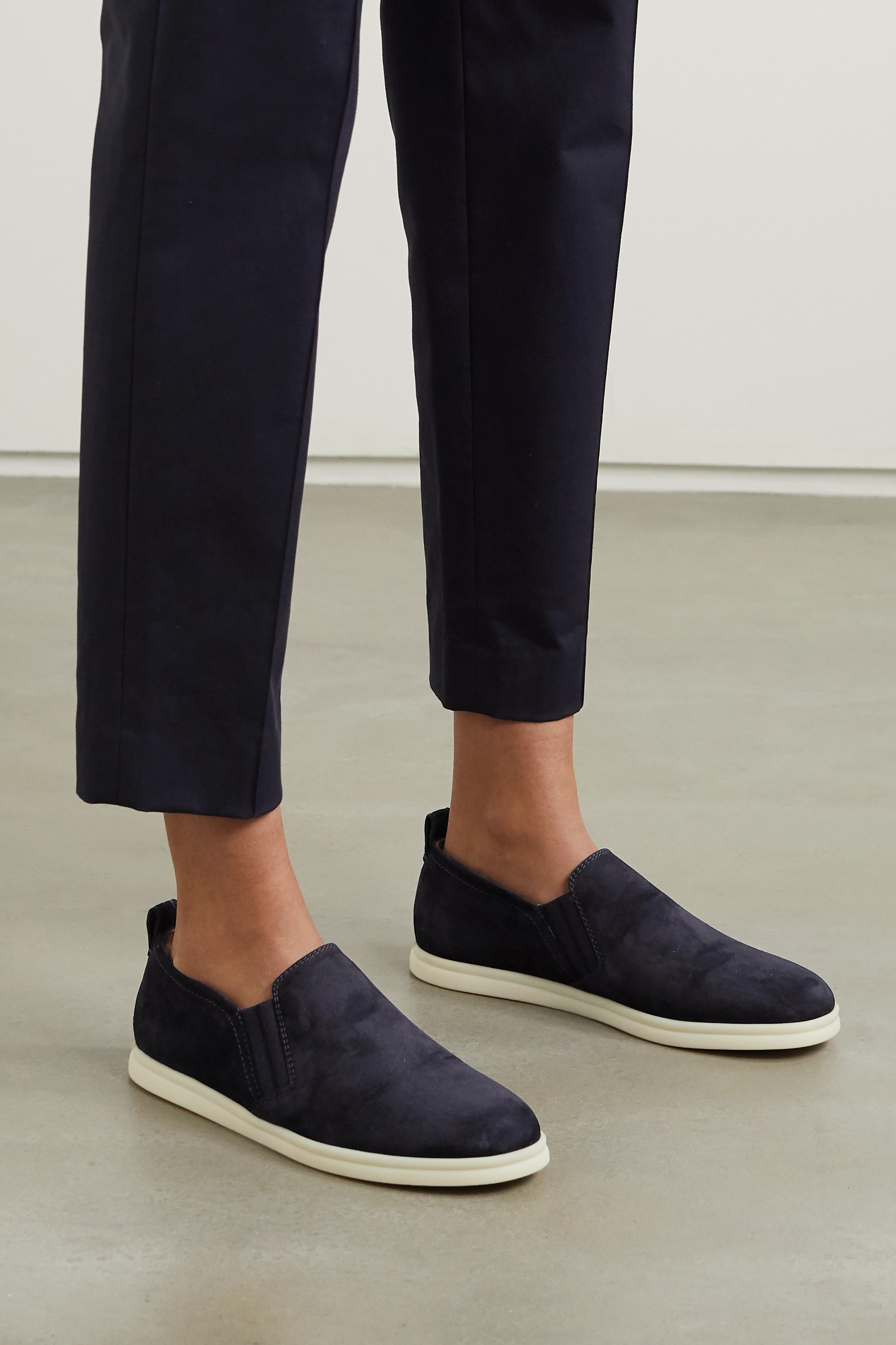 Navy Cocoon Walk suede loafers   Loro