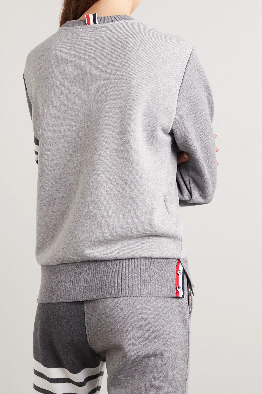 Thom Browne Color-block striped cotton-jersey sweatshirt
