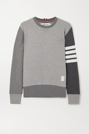 Thom Browne Color-block striped cotton-jersey sweatshirt