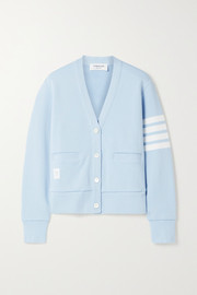 Thom Browne Striped cotton-jersey cardigan