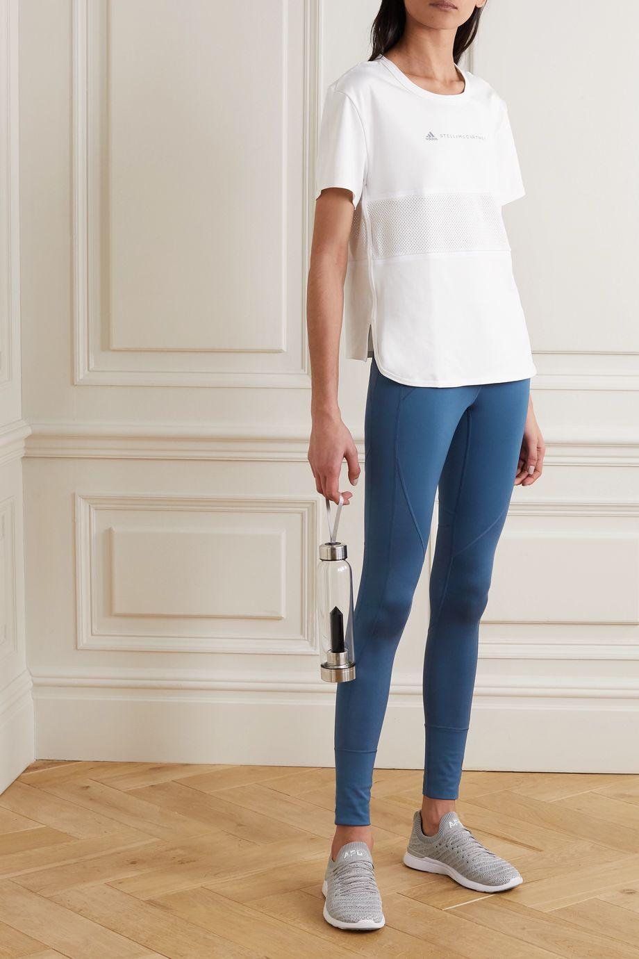 adidas by Stella McCartney Mesh-paneled stretch leggings