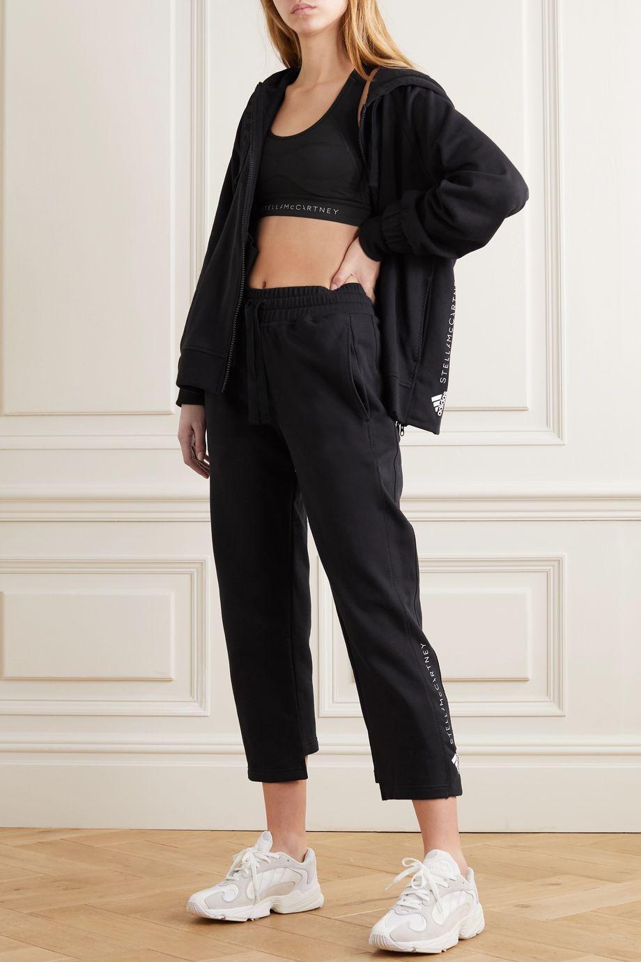 adidas by Stella McCartney Essentials printed cotton-jersey hoodie