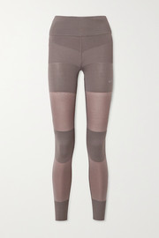 adidas by Stella McCartney Paneled stretch-knit leggings