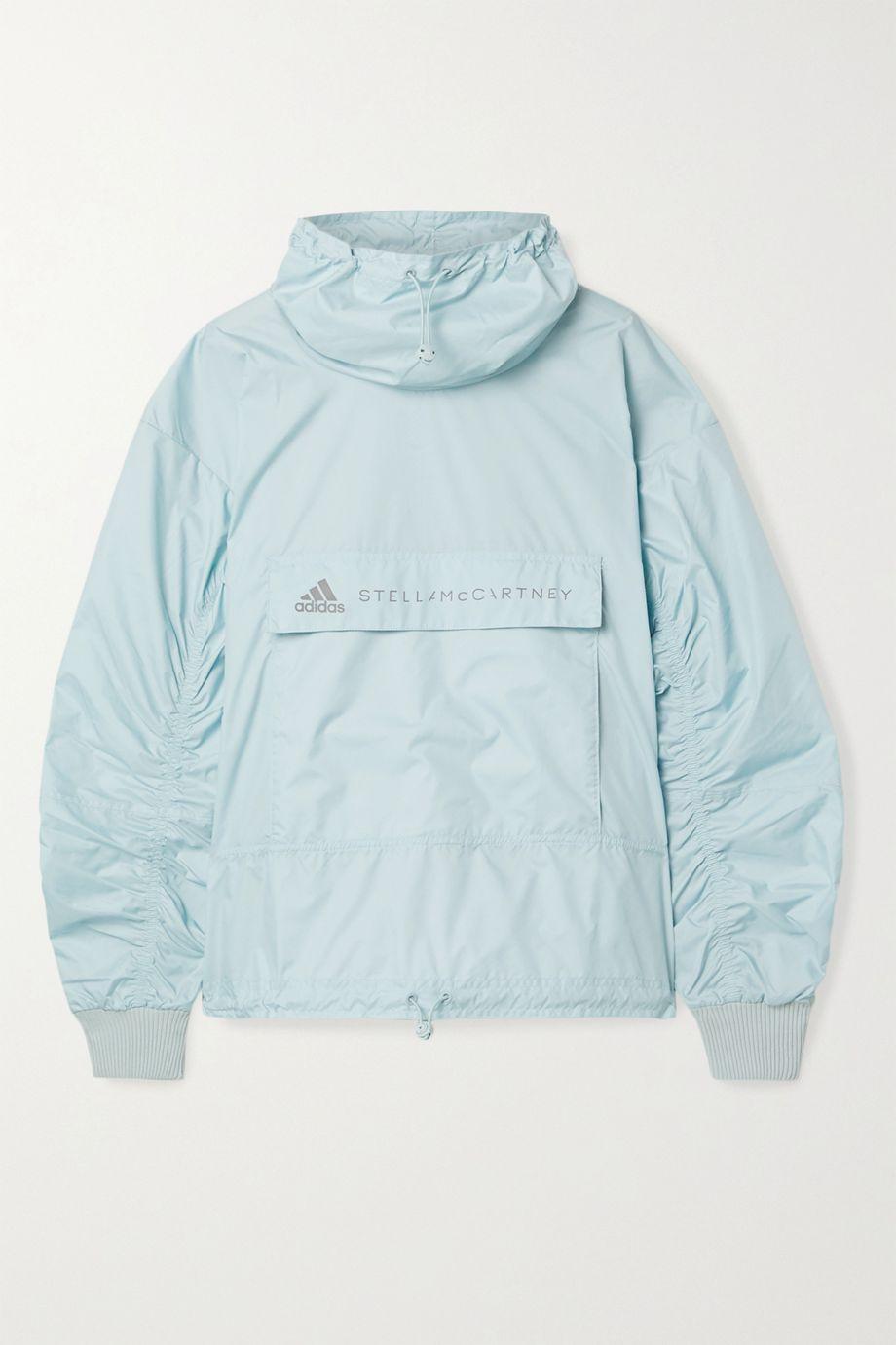 adidas by Stella McCartney Tech cutout ribbed-knit and shell jacket