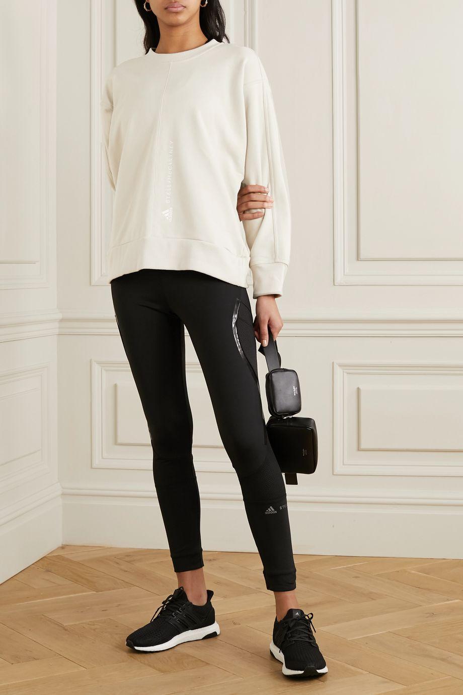 adidas by Stella McCartney Essentials embroidered cotton-jersey sweatshirt