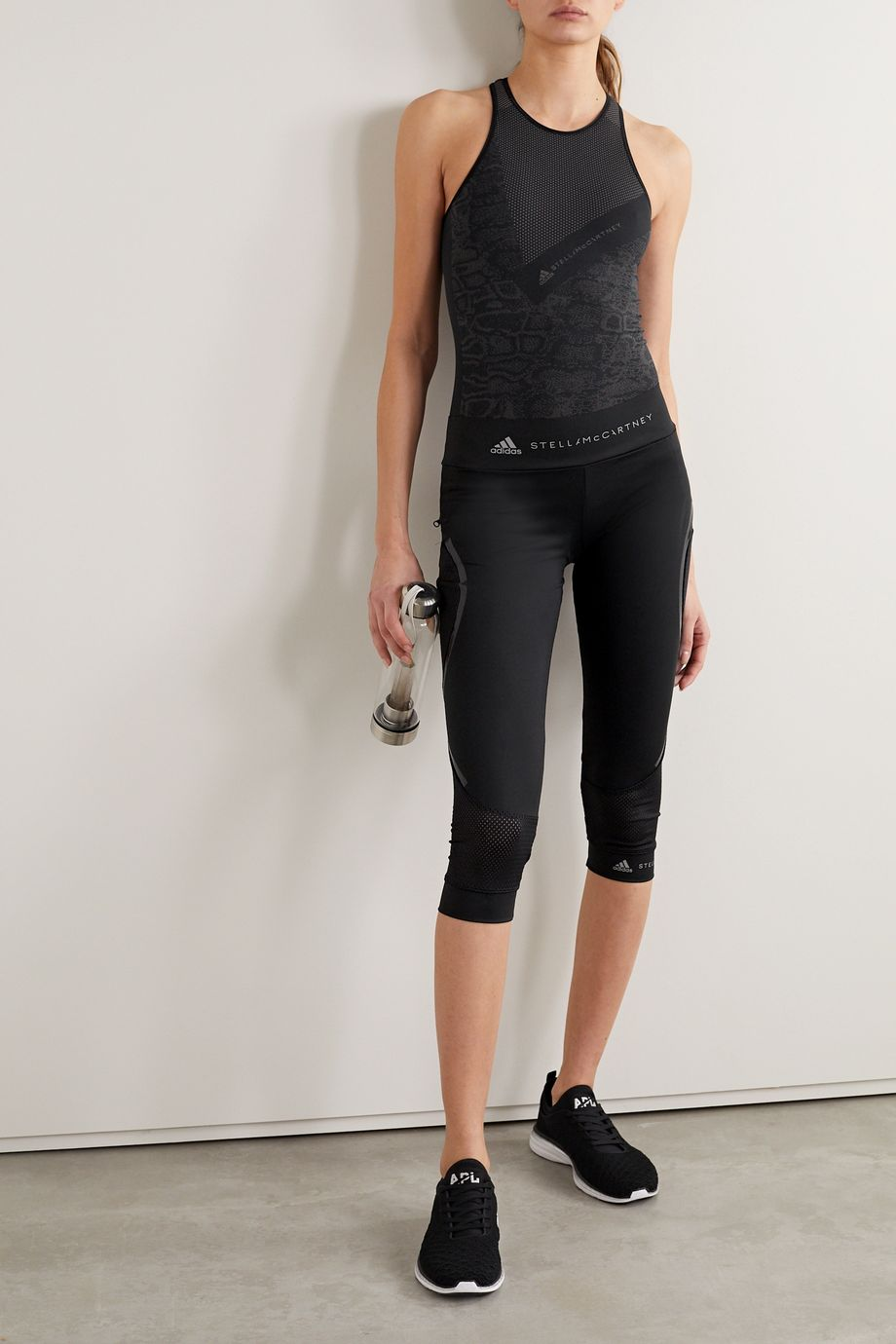 adidas by Stella McCartney + Parley for the Oceans Essentials cropped tech-jersey leggings