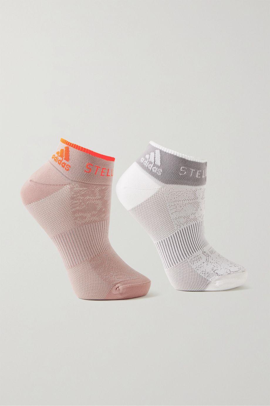 adidas by Stella McCartney 提花针织短袜(两双装)
