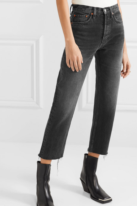 Originals Stove Pipe cropped high-rise straight-leg jeans
