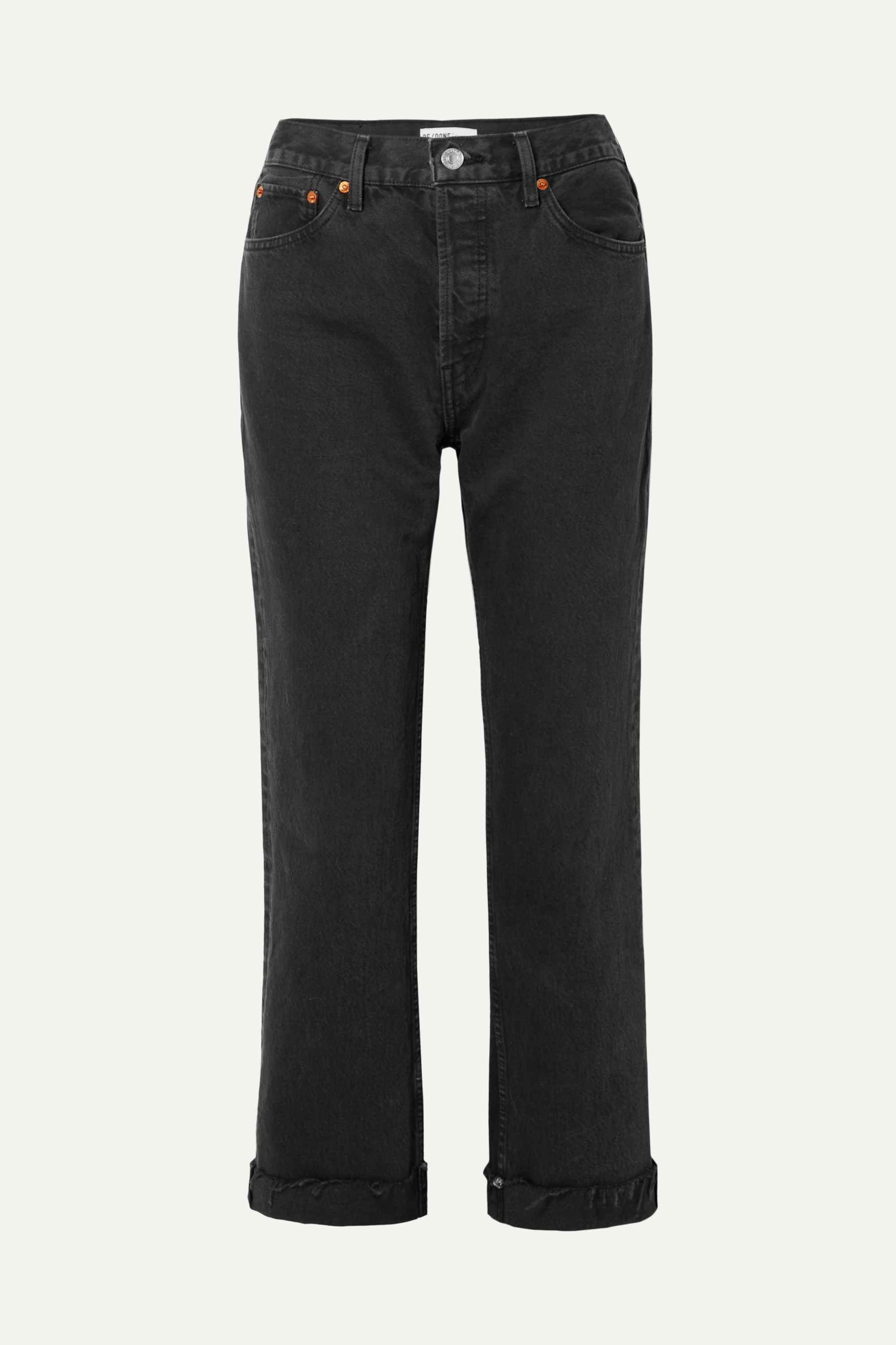 RE/DONE 90s Loose Straight cropped mid-rise jeans