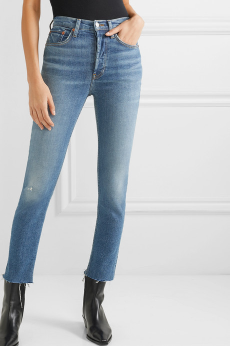Originals High-Rise Ankle Crop distressed skinny jeans