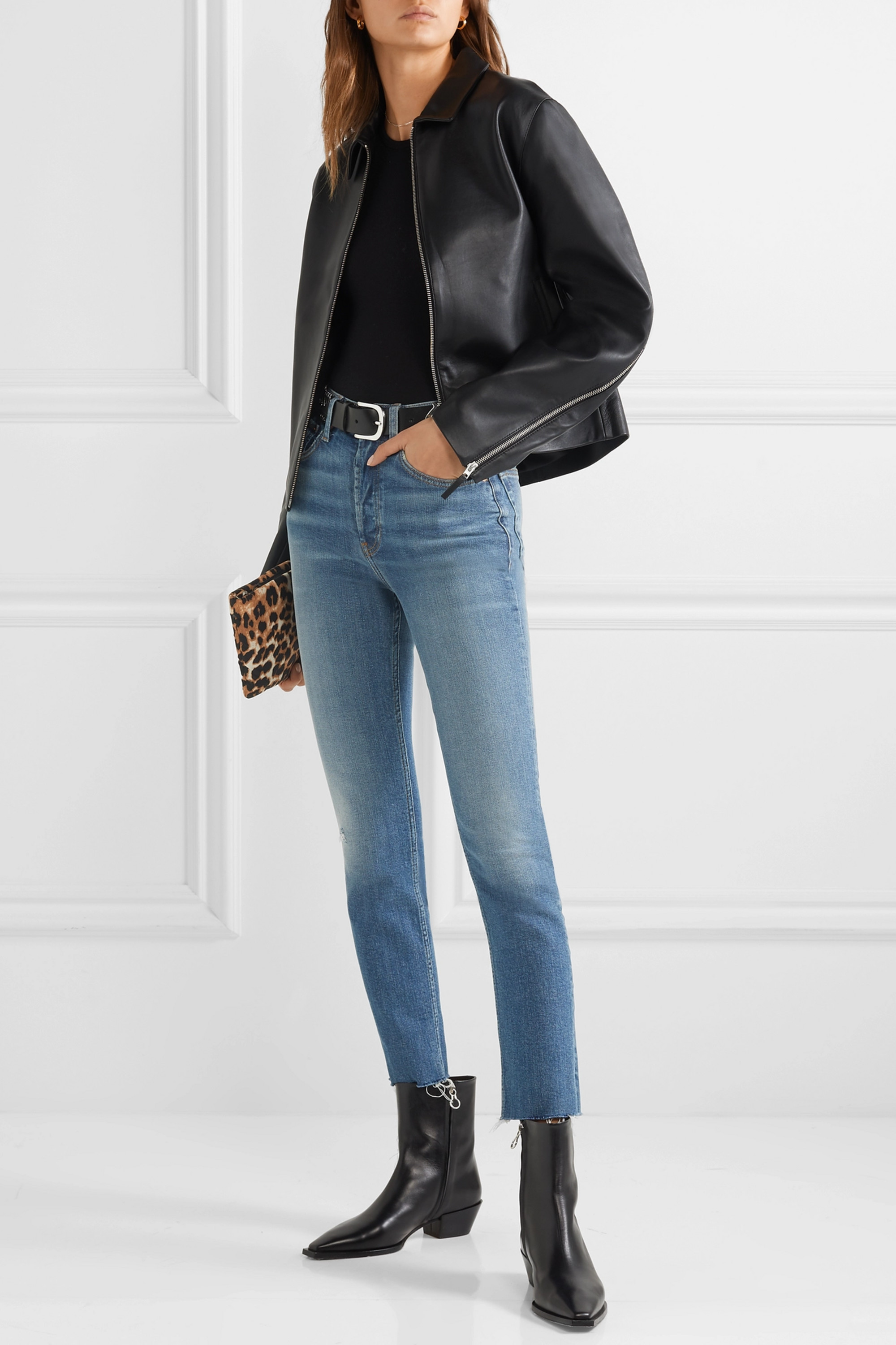 RE/DONE Originals High-Rise Ankle Crop skinny jeans