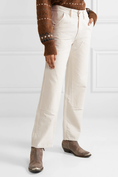 Workmans paneled cotton-canvas straight-leg pants