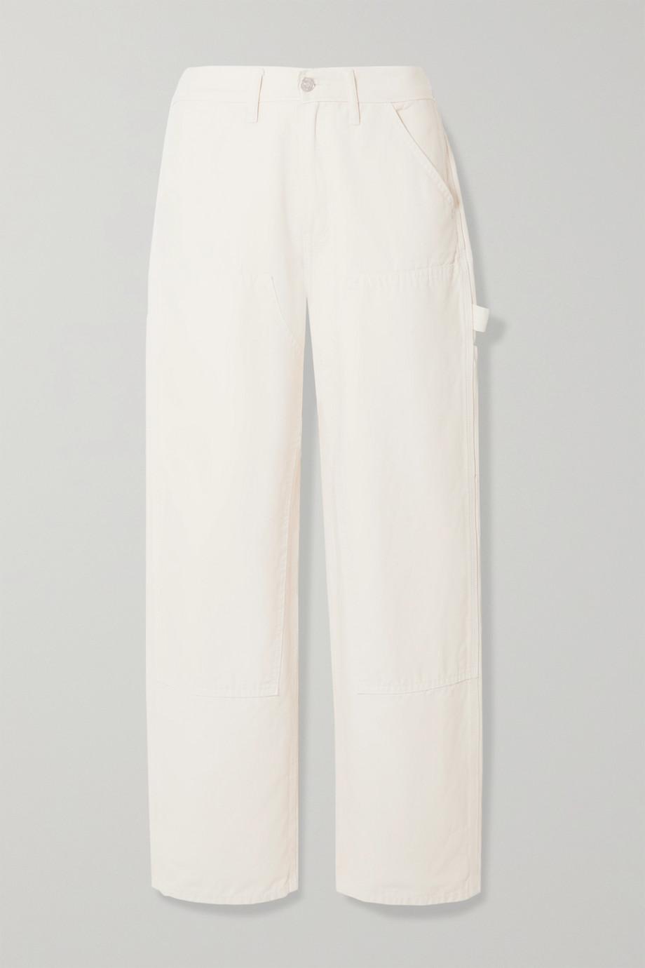 RE/DONE Workmans paneled cotton-canvas straight-leg pants