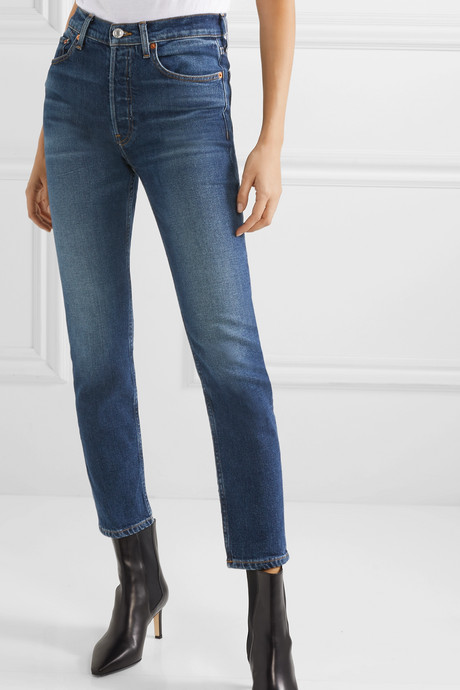 Comfort Stretch High-Rise Ankle Crop skinny jeans
