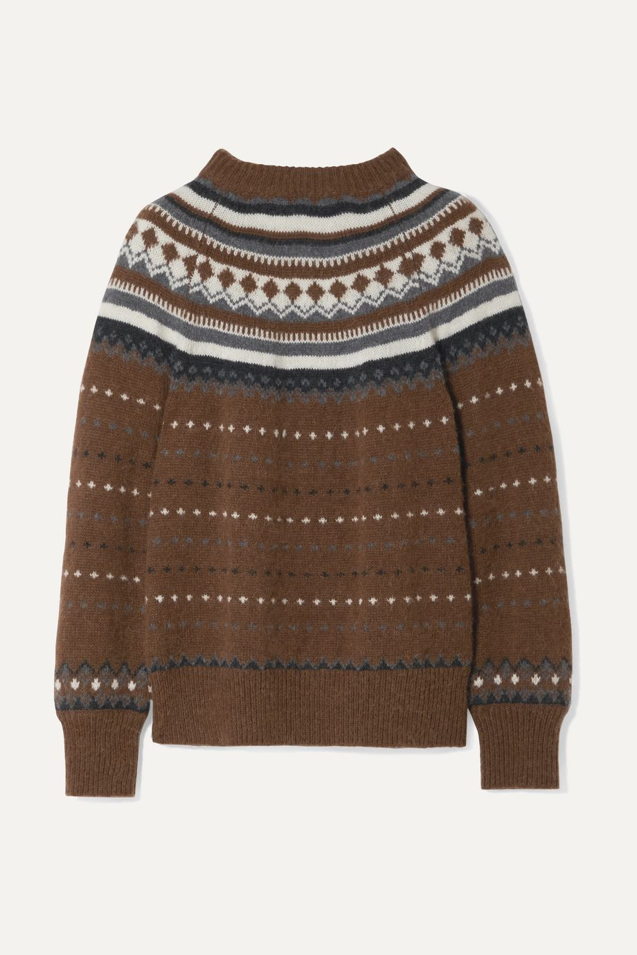 RE/DONE 50s Fair Isle knitted sweater