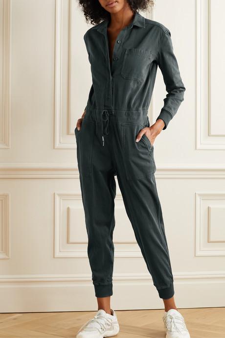 Stretch-cotton twill jumpsuit