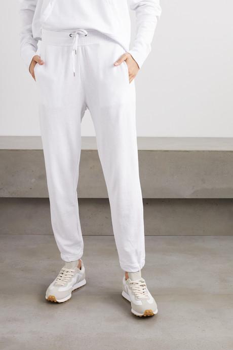 Cotton-jersey track pants
