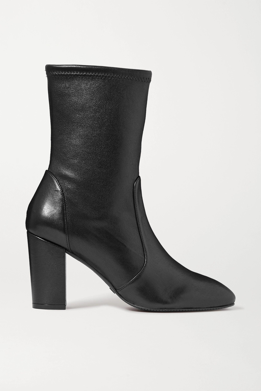 Black Yuliana leather sock boots