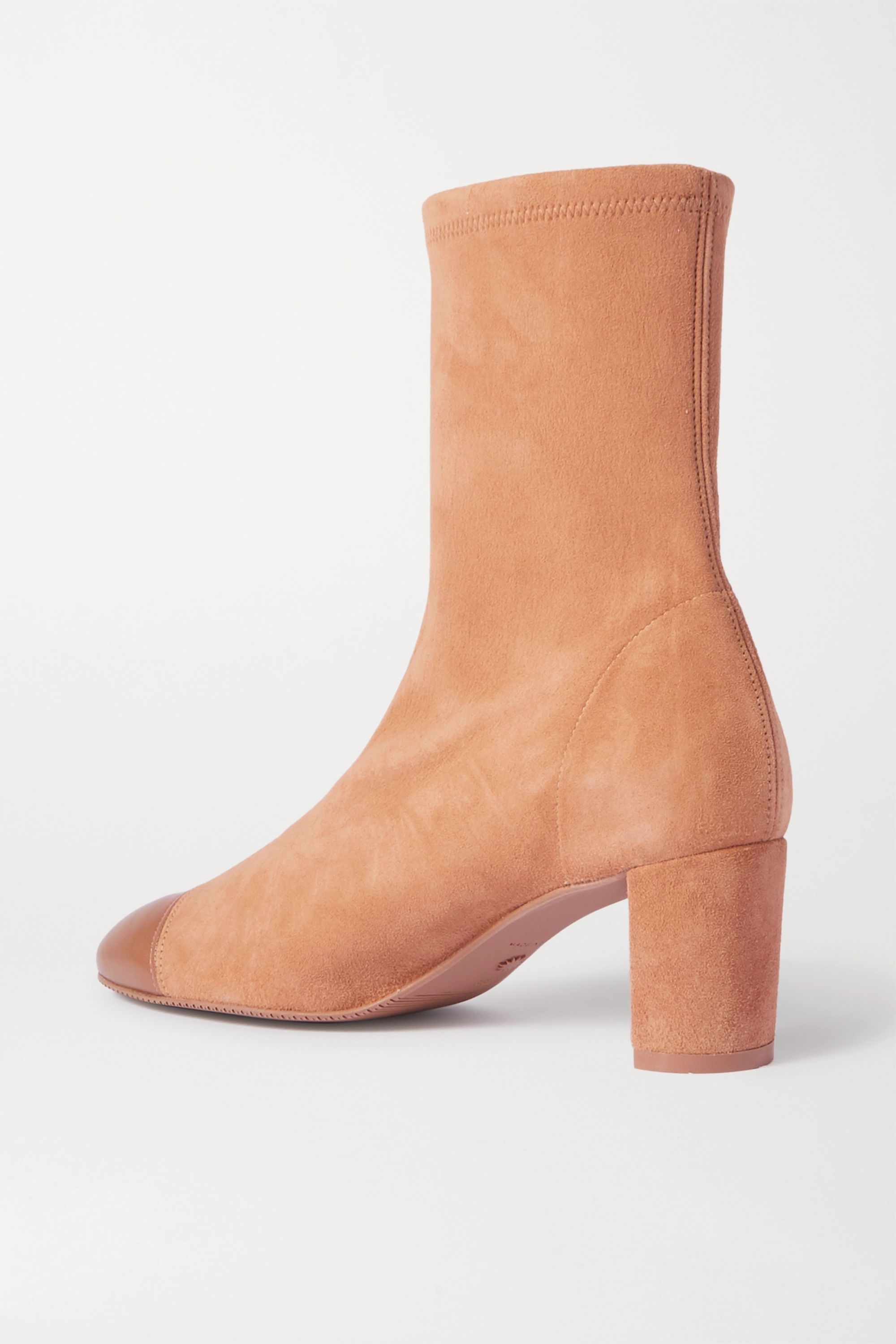 Stuart Weitzman Fernanda suede and leather ankle boots