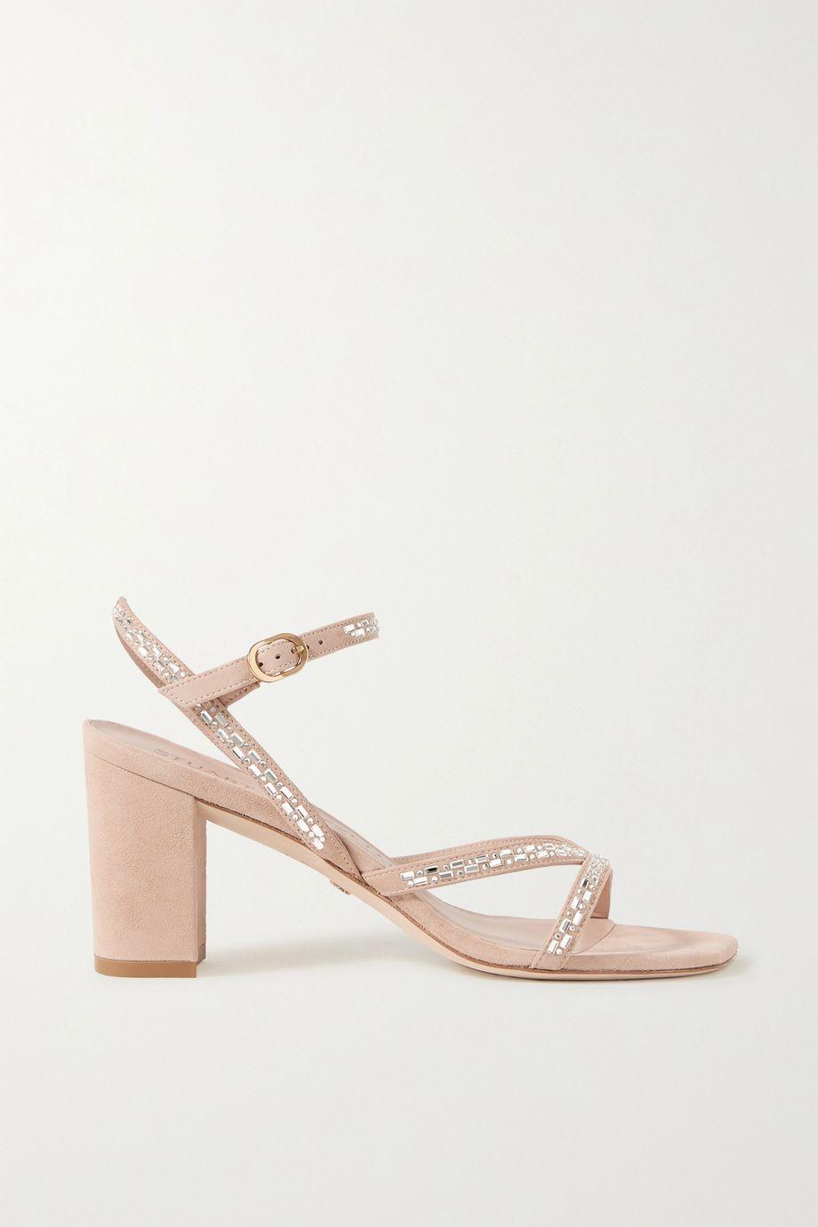 Stuart Weitzman Harlowe crystal-embellished suede sandals