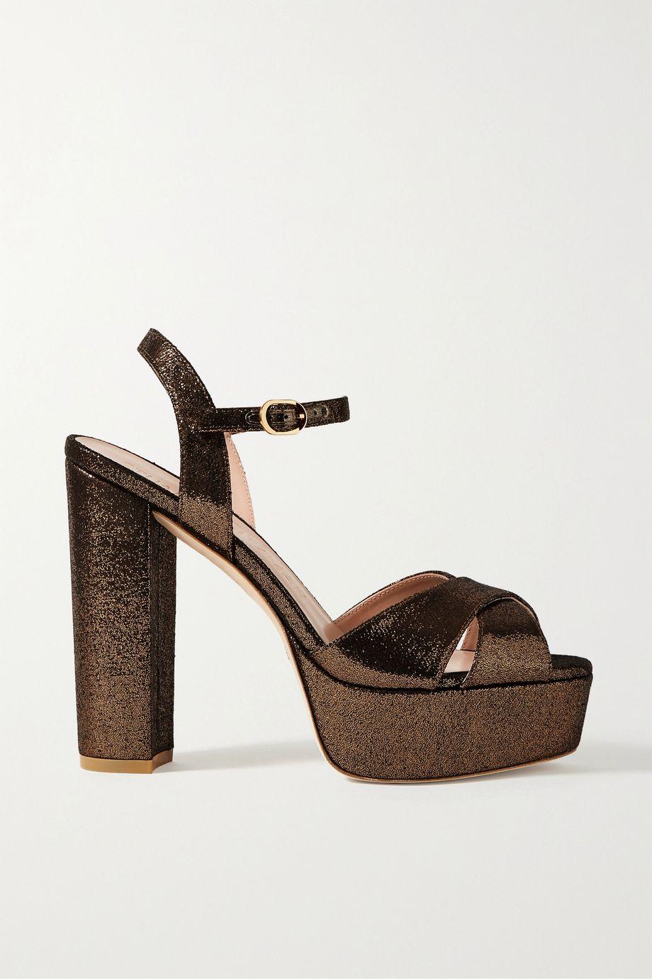 Stuart Weitzman Soliesse lamé sandals