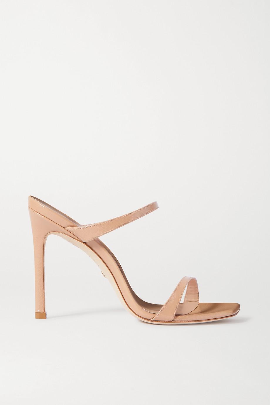 Stuart Weitzman Aleena textured patent-leather sandals