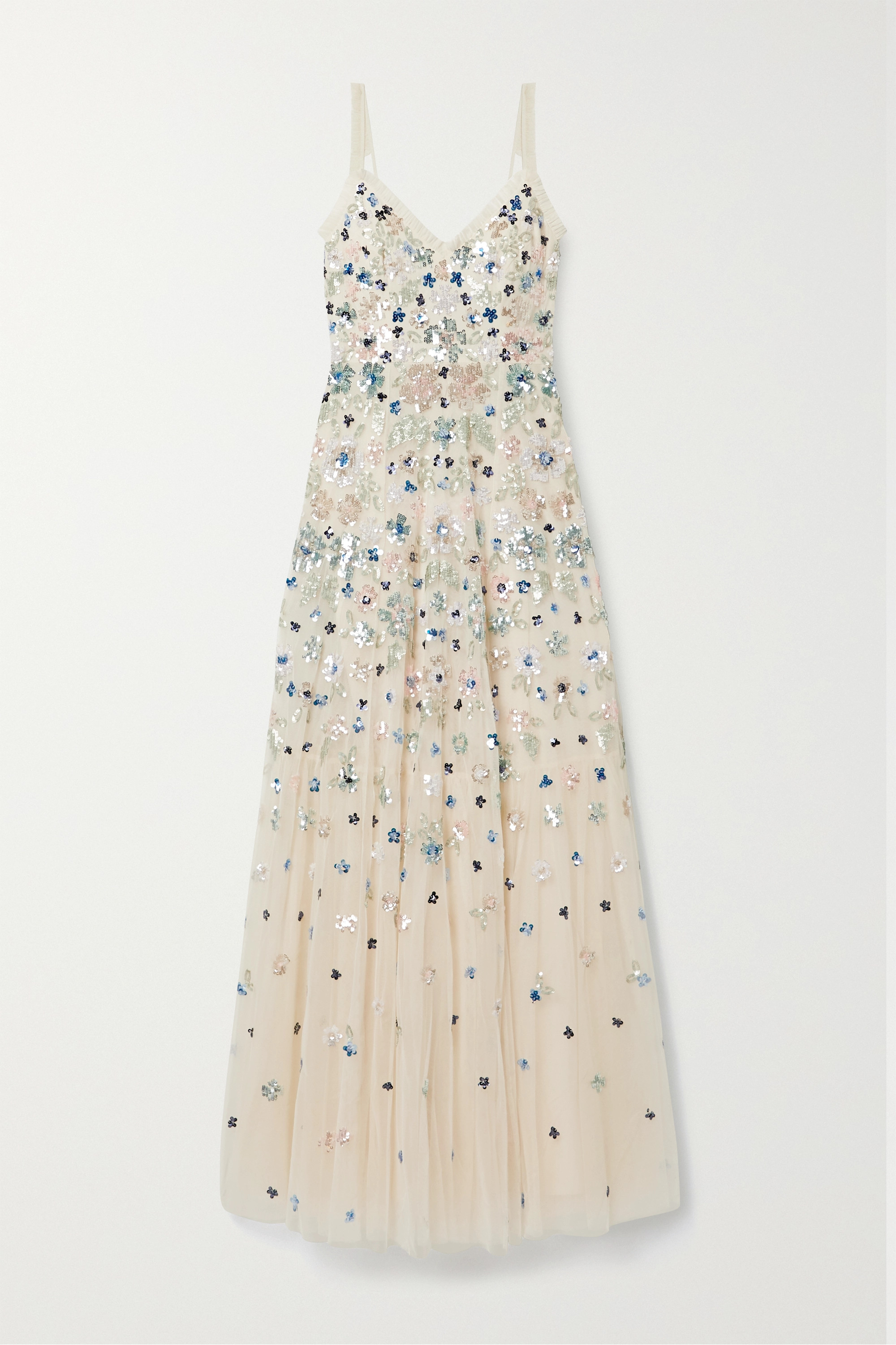 Needle & Thread Wildflower sequined tulle gown
