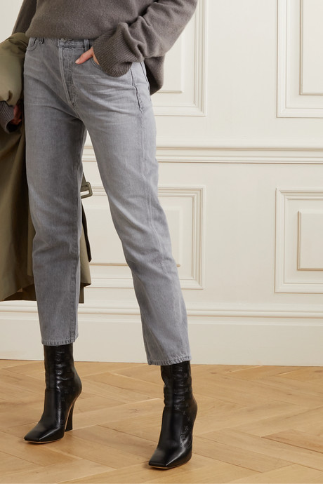 McKenzie cropped organic mid-rise straight-leg jeans