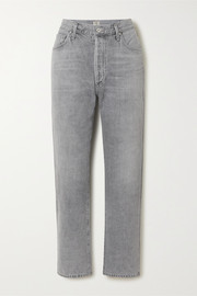 Citizens of Humanity McKenzie cropped organic mid-rise straight-leg jeans
