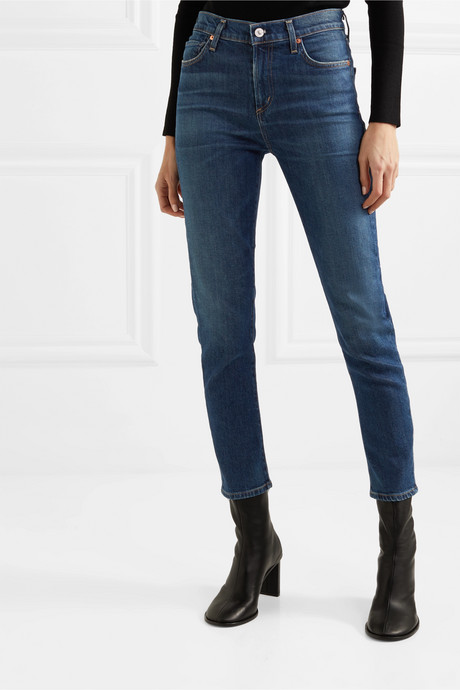 Harlow mid-rise straight-leg jeans