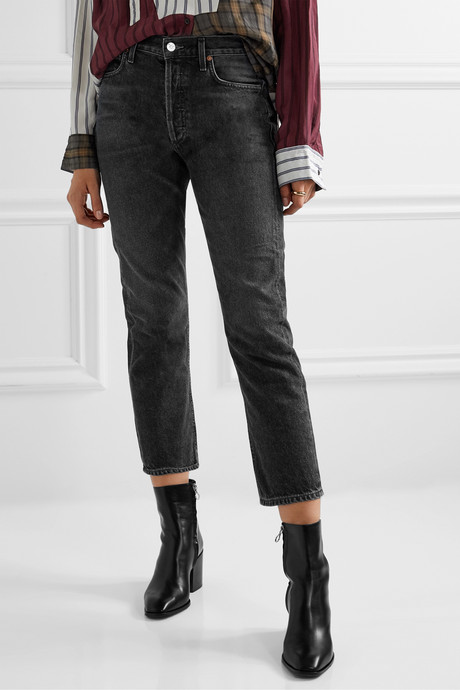 Charlotte cropped high-rise straight-leg jeans