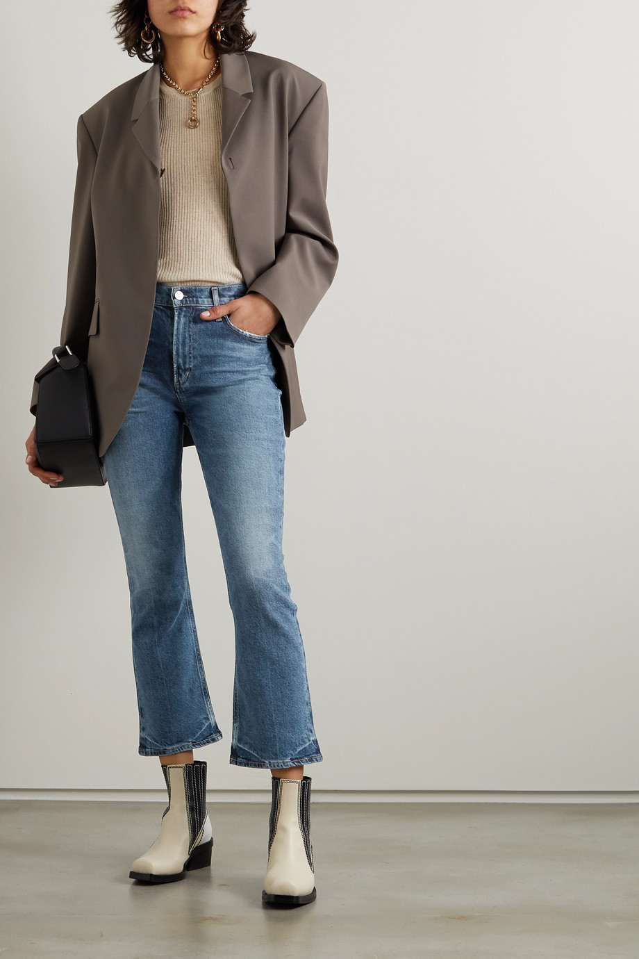 Citizens of Humanity Demy cropped high-rise flared jeans