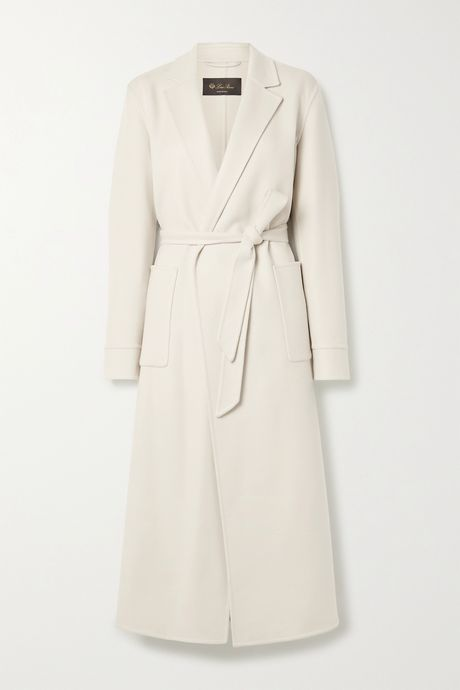 Off-white Noran belted cashmere coat | Loro Piana Nj36Qx