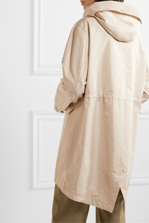 Loro Piana Headley hooded matte-satin raincoat