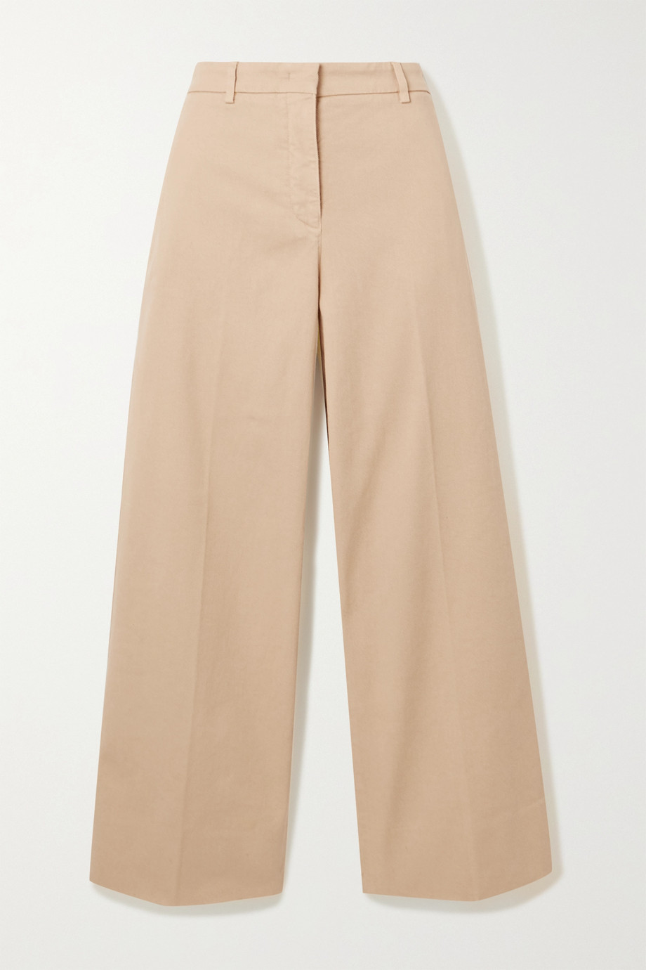 Loro Piana Garry cotton-blend twill wide-leg pants