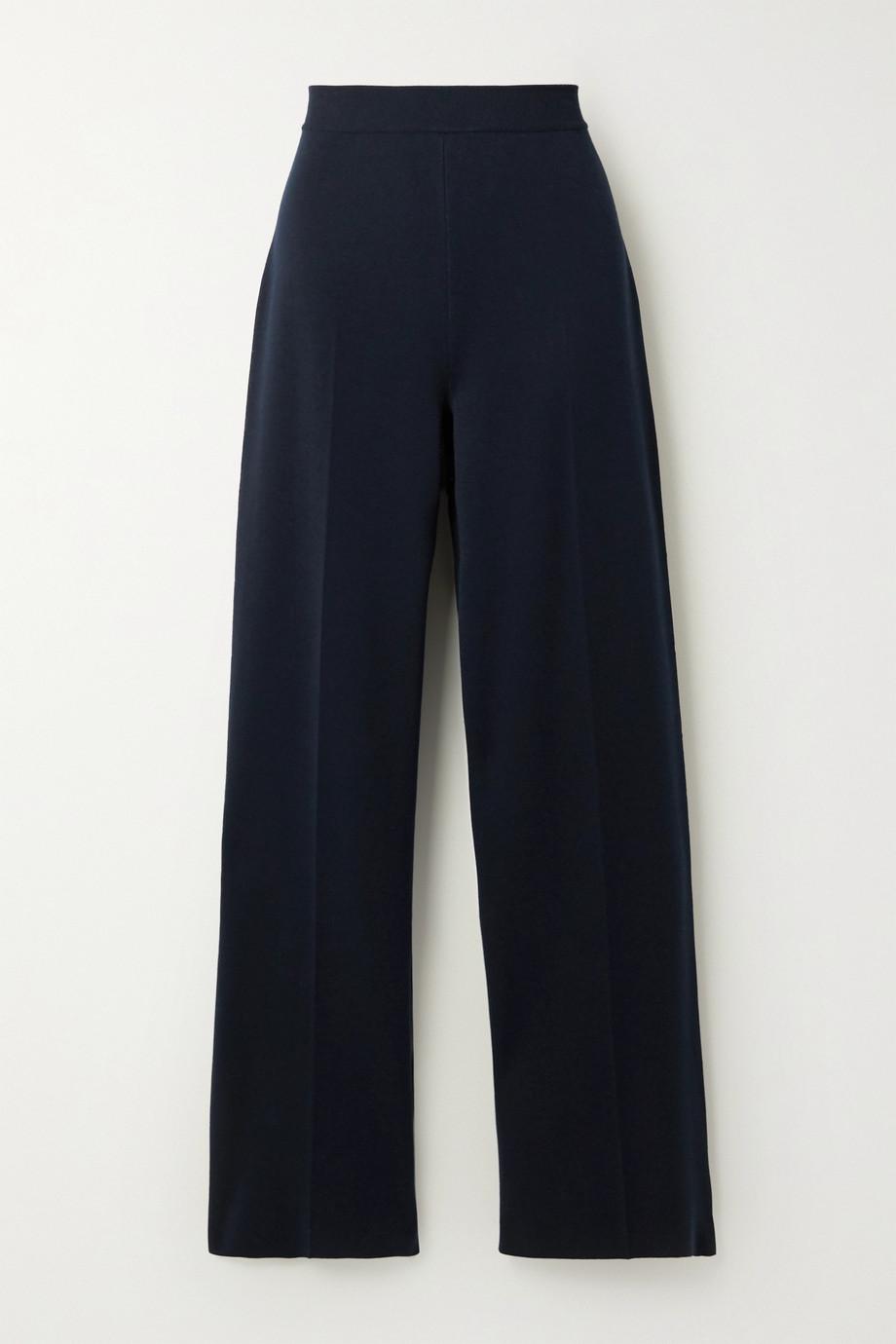Loro Piana Silk and cotton-blend wide-leg pants