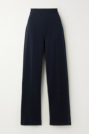 Loro Piana Silk and cotton-blend wide-leg pants
