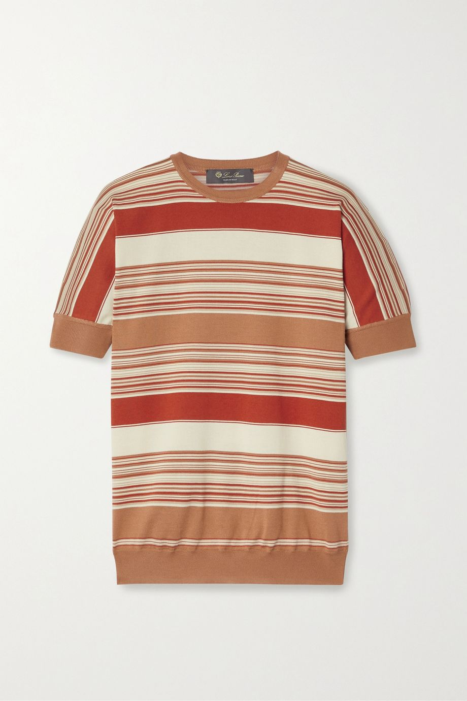 Loro Piana Giroccolo Tangery striped silk and cotton-blend sweater