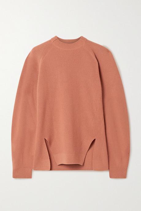 Orange Girocollo Brixton ribbed cashmere sweater | Loro Piana nyx8lV