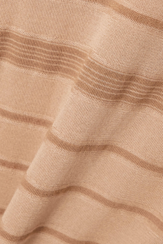 Loro Piana Kimono Essaouira striped cashmere and silk-blend sweater