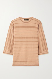Loro Piana Kimono Essaouira striped cashmere and silk-blend sweater
