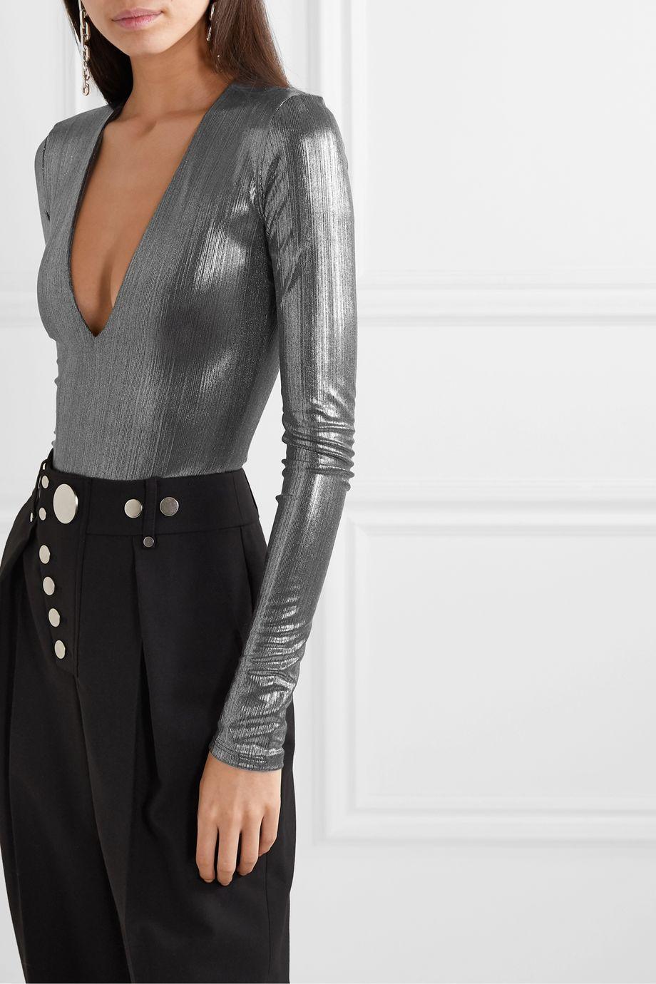 Alix NYC Stretch-lamé bodysuit