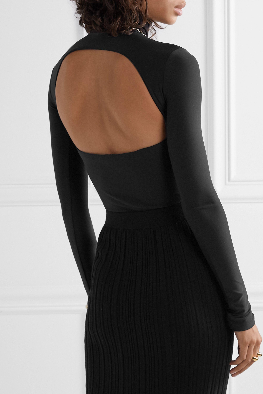 Alix NYC Bennett cutout stretch-jersey turtleneck thong bodysuit