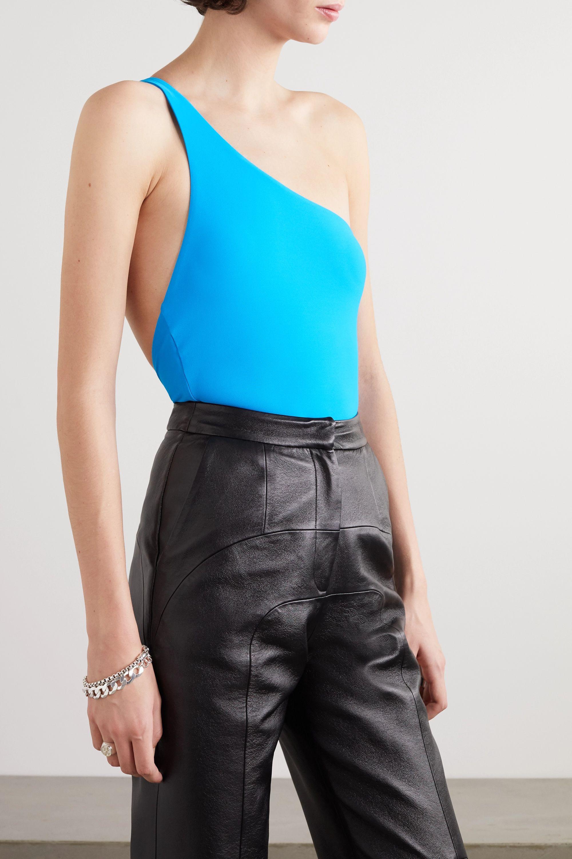 Alix NYC Myrtle one-shoulder stretch-jersey thong bodysuit