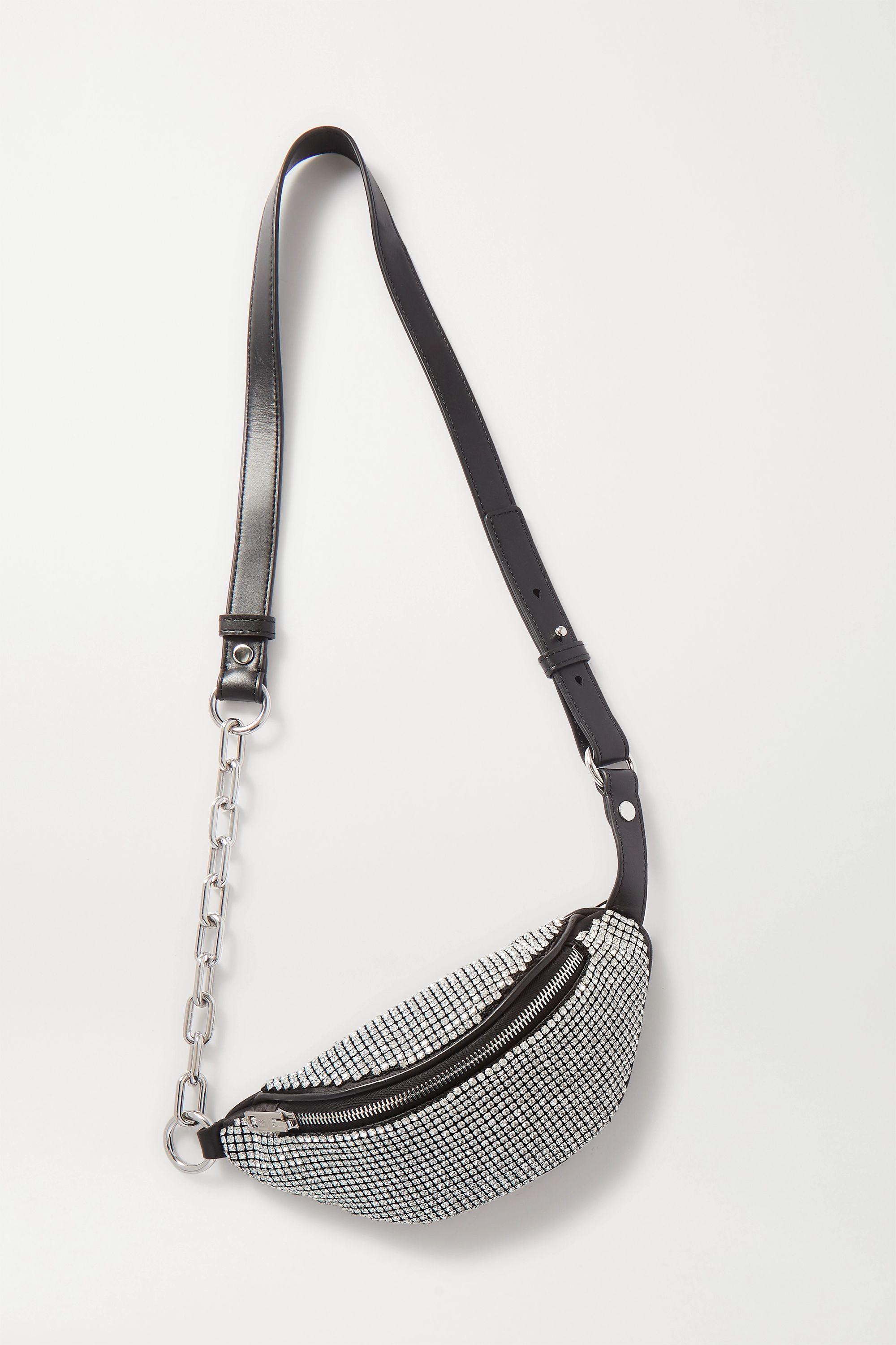 Alexander Wang Attica mini crystal-embellished leather belt bag